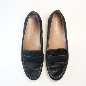 Donald J Pliner black loafers calf hair size 11